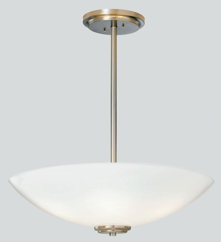 Miro Bowl Pendant with Tubing Finish: Polished Brass