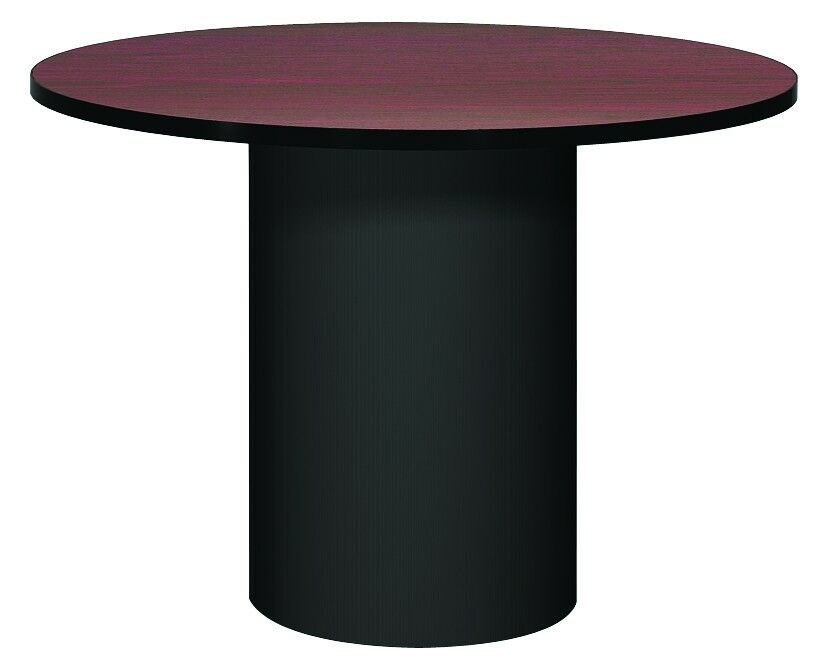 Corsica Circular Conference Table Base Finish: Black, Top Finish: Oiled Cherry, Size: 3' 6
