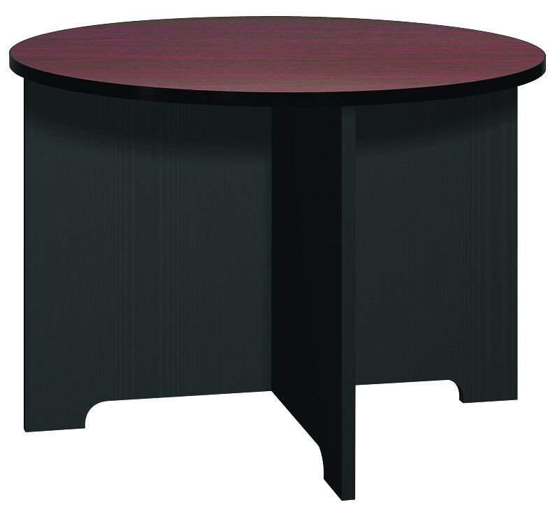 Kayak Circular Conference Table Base Finish: Black, Top Finish: Oiled Cherry, Size: 4' L