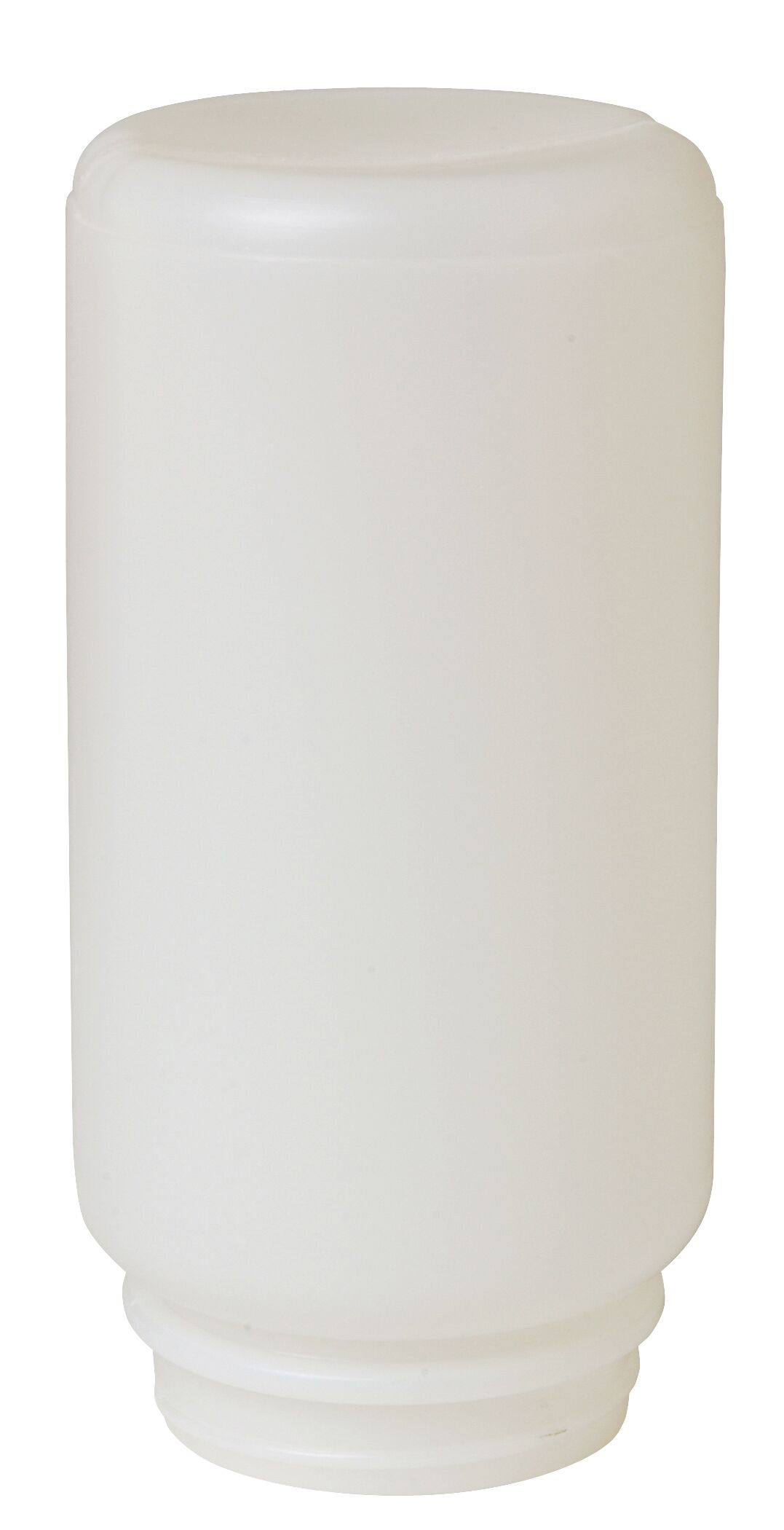 Screw On Plastic Jar Poultry Feeder in White - 1 Quart