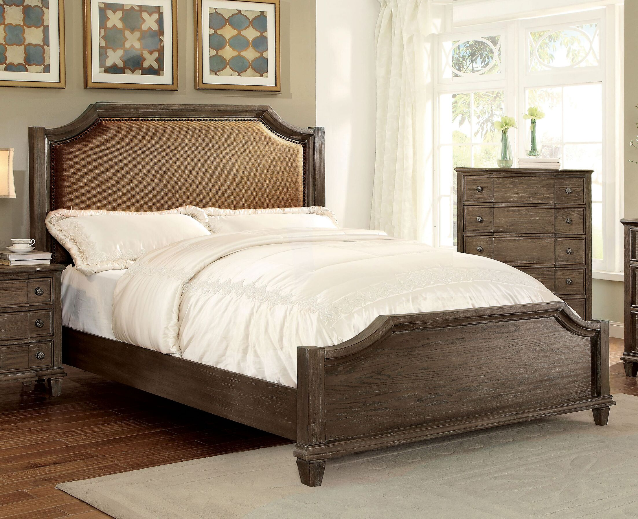 Arlington Upholstered Panel Bed
