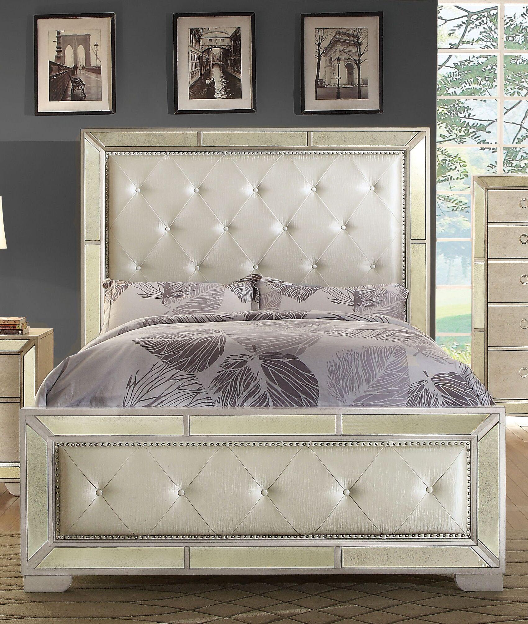 Ligia Upholstered Panel Headboard Size: Queen