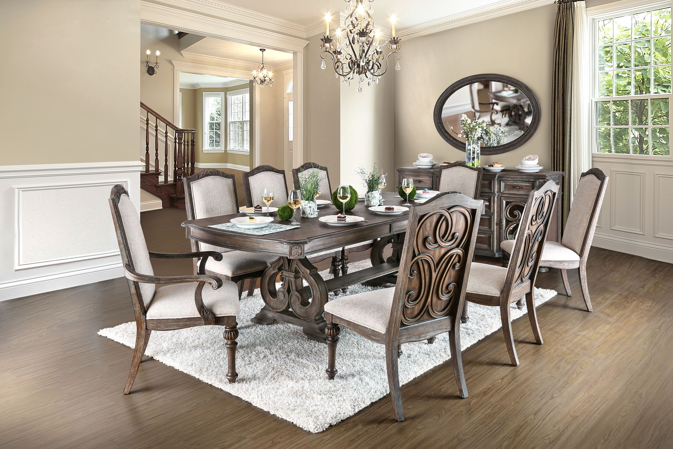 Dining Table Sets Abbottstown 9 Piece Dining Set