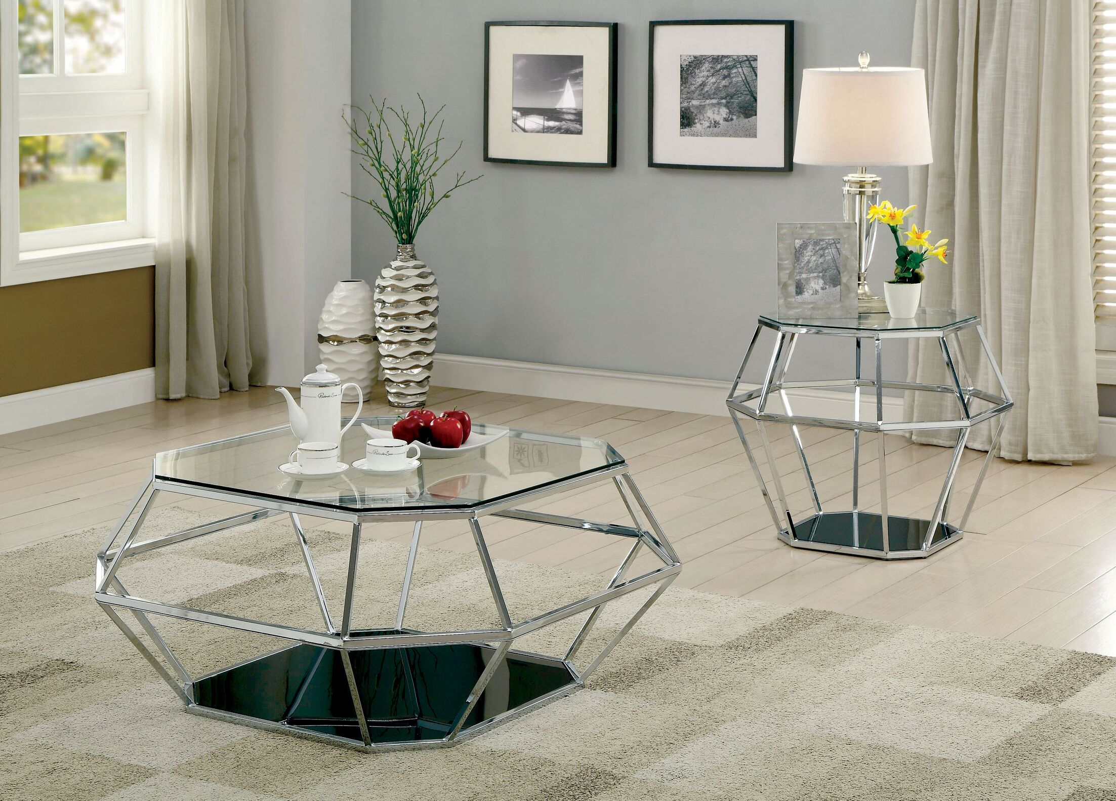 Aguiar 2 Piece Coffee Table Set