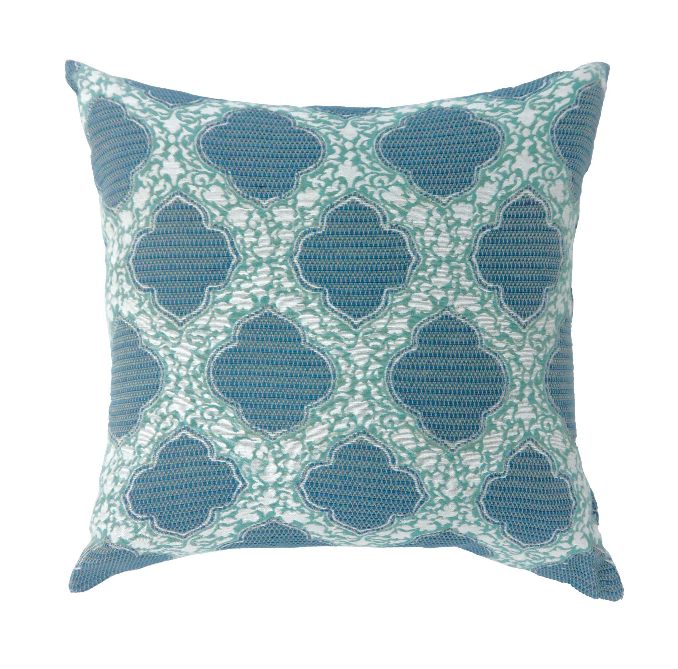 Socorro Contemporary Throw Pillow Color: Blue, Size: 22