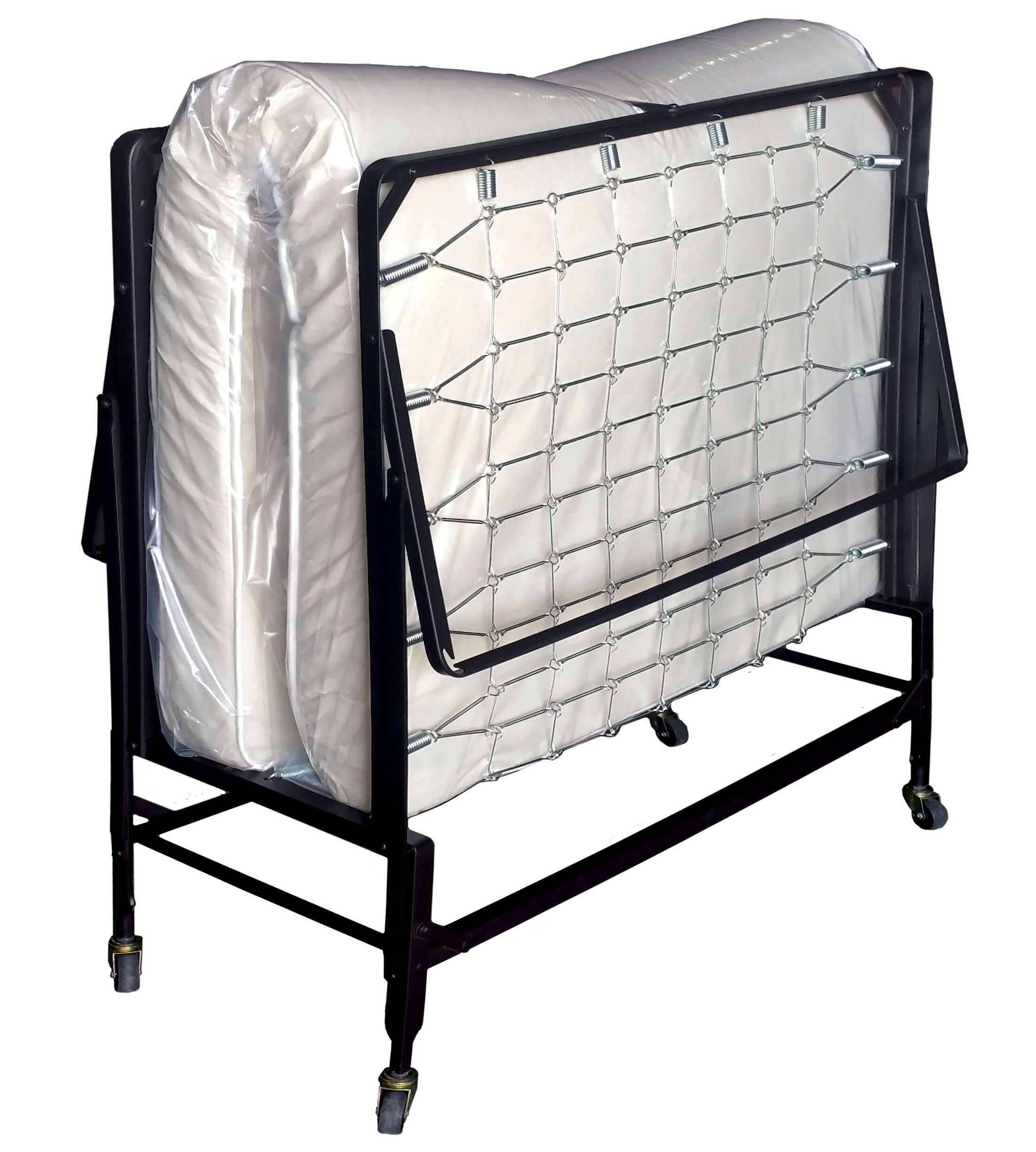 Folding Bed with Mattress Size: 47.25