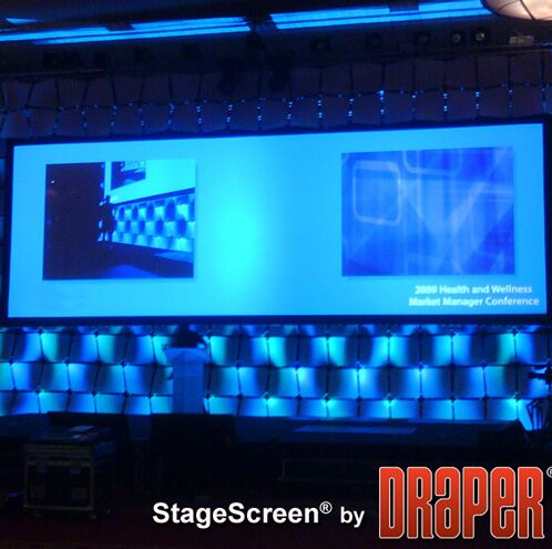 Features: -StageScreen collection.-Made in the USA.-Product Type: Portable.-Mount Type: Folding frame.-Application: .-Projection Type: .-Screen Surface: Black -Screen Surface Details: ..-Hardware Finish: Black.-Screen Format: Full screen/Video format ...
