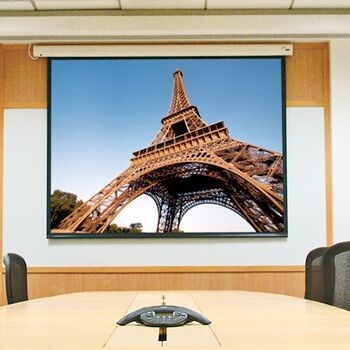 Baronet White Electric Projection Screen Size/Format: 67