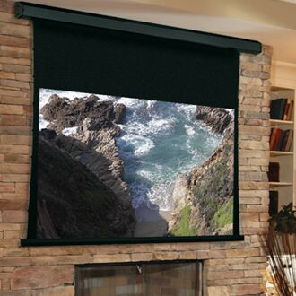 Premier White Electric Projection Screen Low Voltage Motor Size/Format: 193