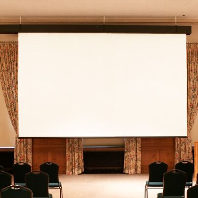 Rolleramic Matte White Electric Projection Screen Size/Format: 133