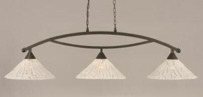 Eisenhauer Bow 3-Light Downlight Kitchen Island Pendant Finish: Brushed Nickel, Shade Color: Italian Marble Glass