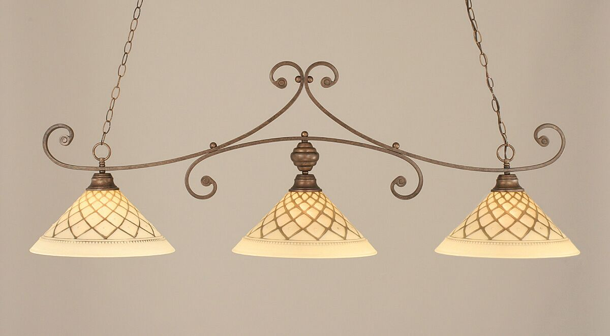 Babin 3-Light Billiard Light Color: Bronze