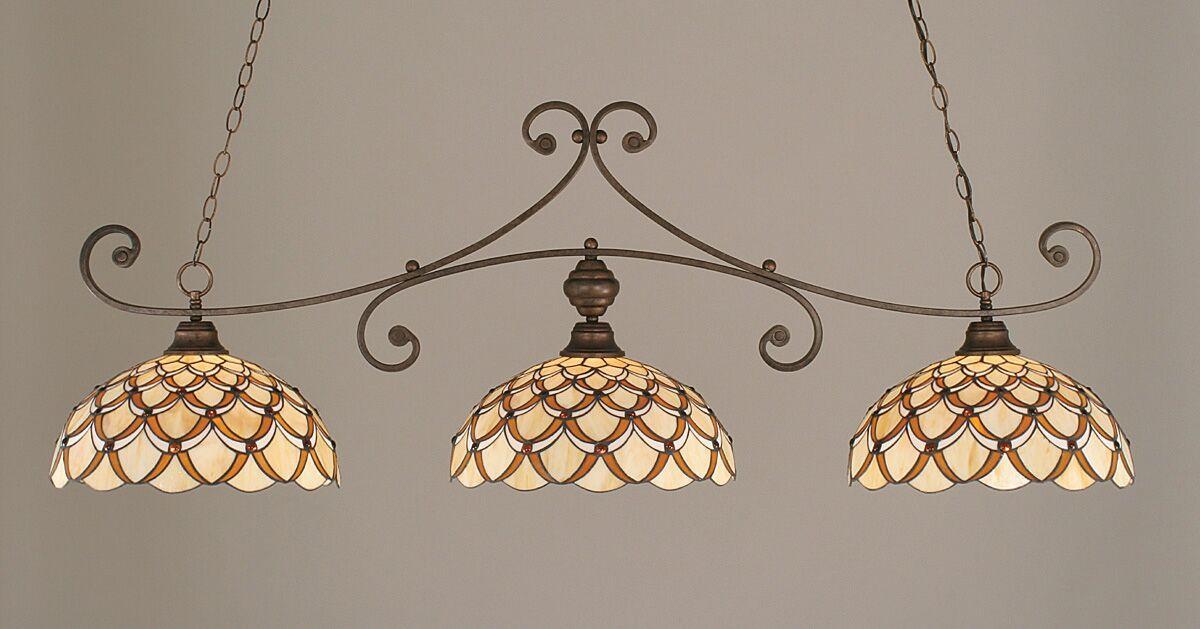Copeland 3-Light Billiard Light Color: Bronze