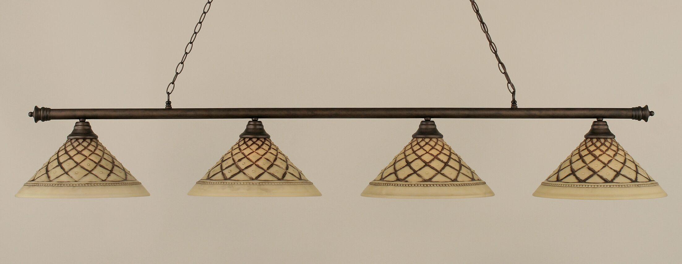 Mendez 4-Light Billiard Light Finish: Bronze