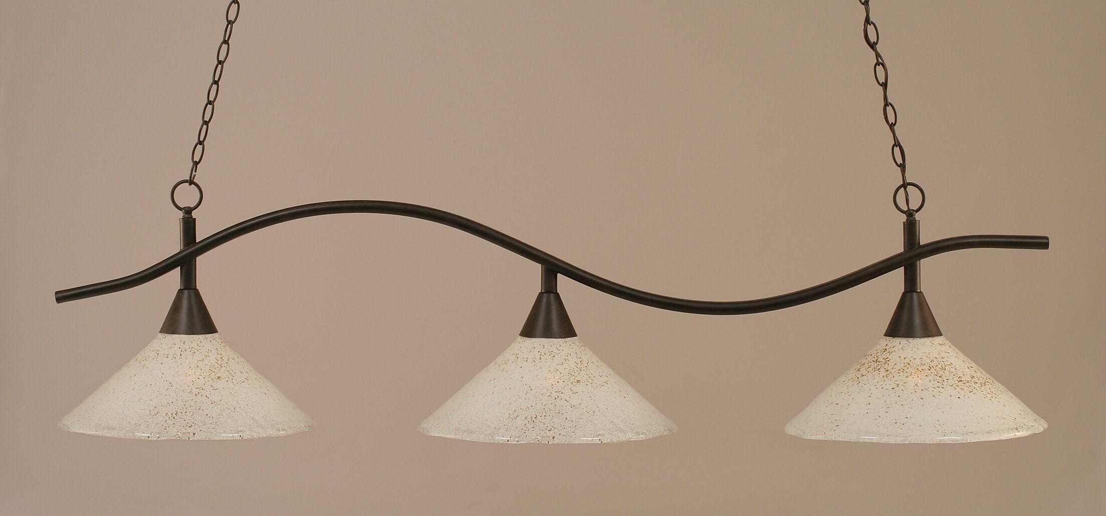 Demi 3-Light Billiard Light Finish: Dark Granite