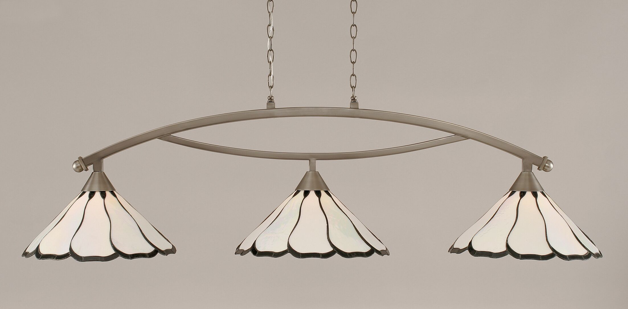 Austinburg Contemporary 3-Light Kitchen Island Pendant Color: Brushed Nickel, Shade Color: Pearl
