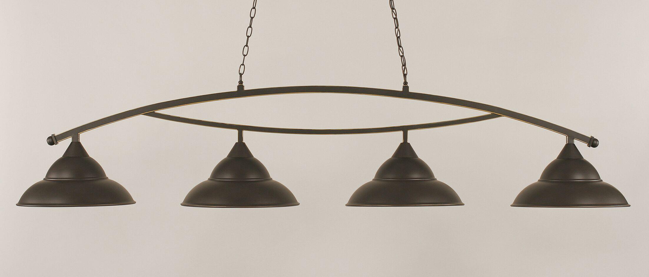 Eisenhauer 4-Light Billiard Light Finish: Dark Granite
