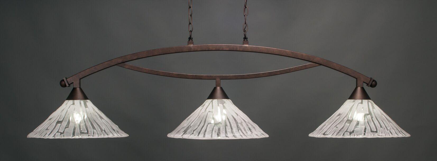 Eisenhauer Bow 3-Light Billiard Pendant