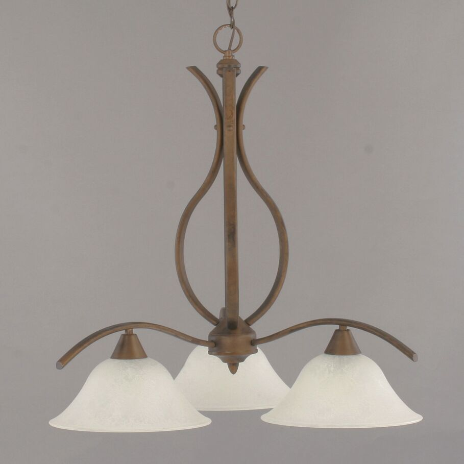 Demi 3-Light Shaded Chandelier Shade Color: White