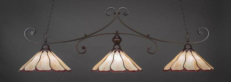 Marylin 3-Light Pool Table Lights Shade Color: Honey Burgundy