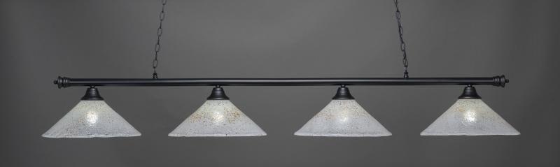 Mendez 4-Light Cone Ice Glass Shade Billiard Pendant