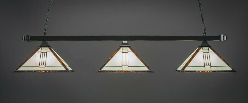 Bellavia 3-Light Billiard Pendant Base Finish: Black Copper
