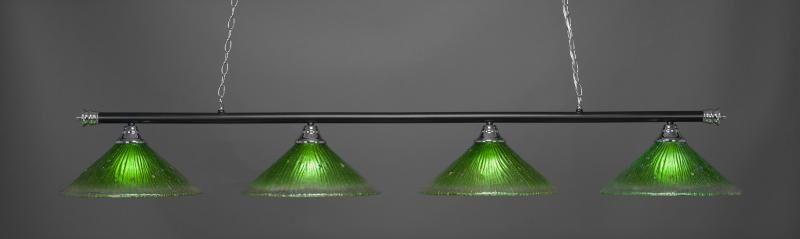 Mendez 4-Light Billiard Pendant Shade Color: Kiwi Green, Base Finish: Chrome/Matte Black