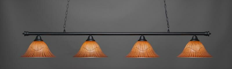 Mendez 4-Light Billiard Pendant Shade Color: Tiger