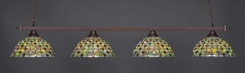 Bierce 4-Light Billiard Pendant Base Finish: Bronze
