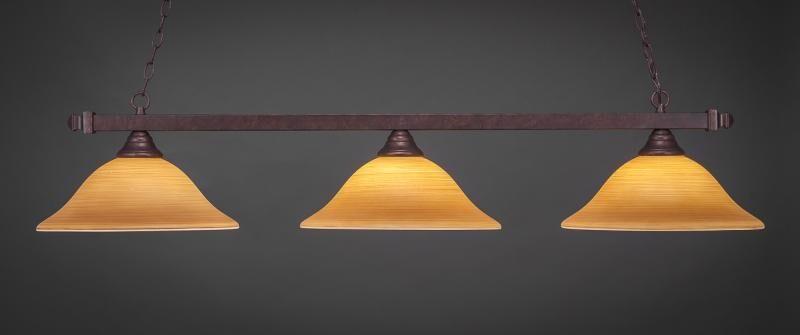 Belles 3-Light Kitchen Island Pendant Shade Color: Cayenne, Base Finish: Bronze
