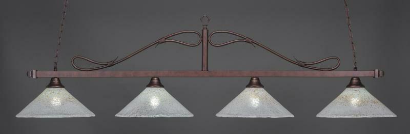 Reba 4-Light Glass Shade Billiard Pendant
