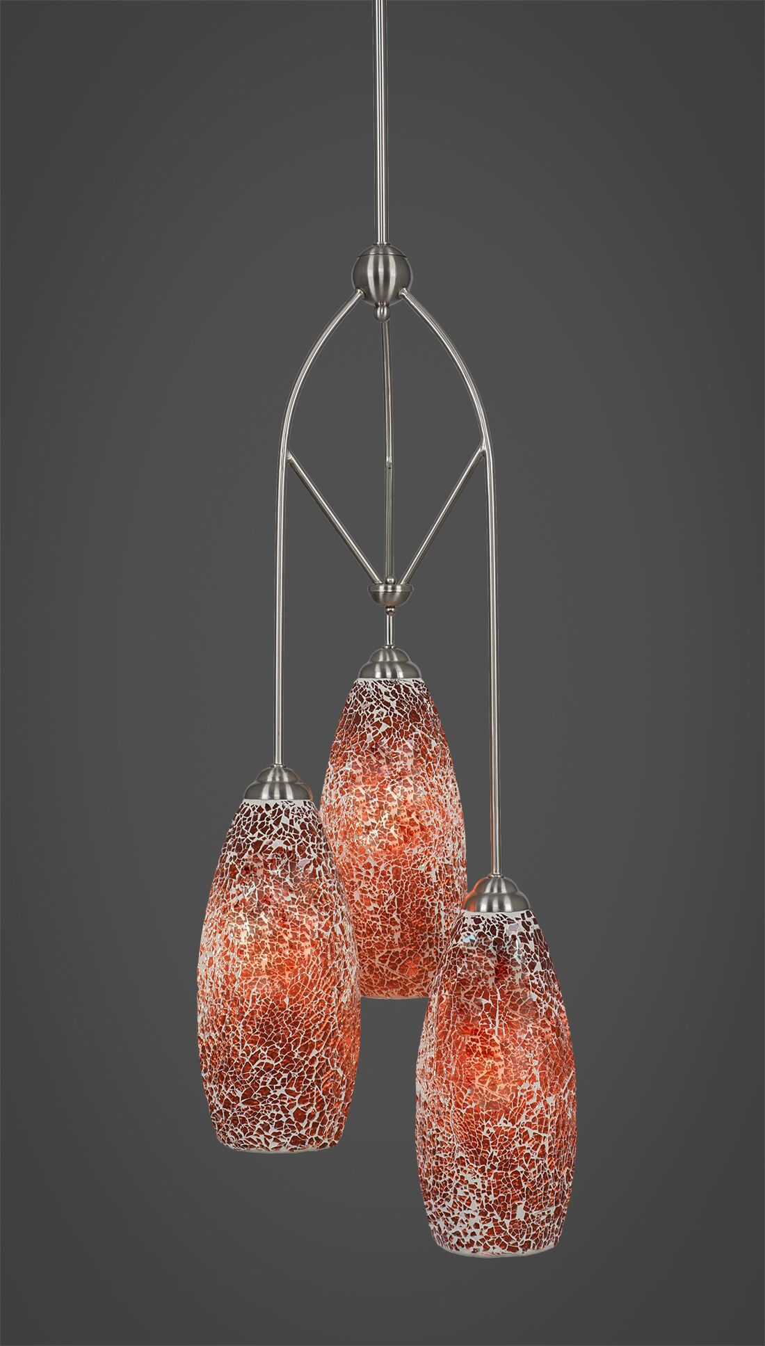 Randle 3-Light Pendant Shade Color: Red