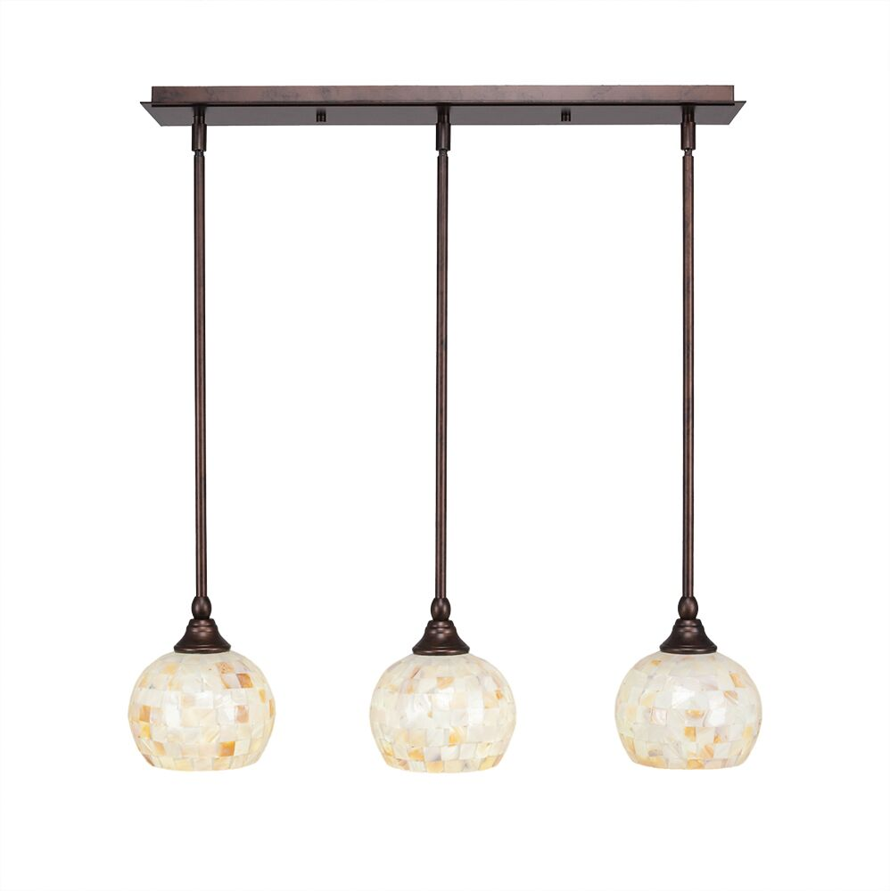 Ratchford 3-Light Kitchen Island Pendant Finish: Bronze