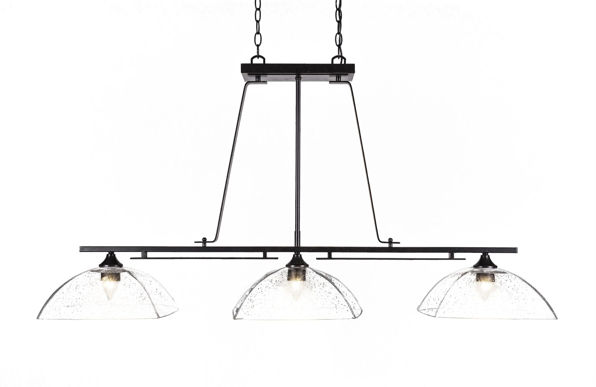Sinclaire 3-Light Kitchen Island Pendant Finish: Dark Granite