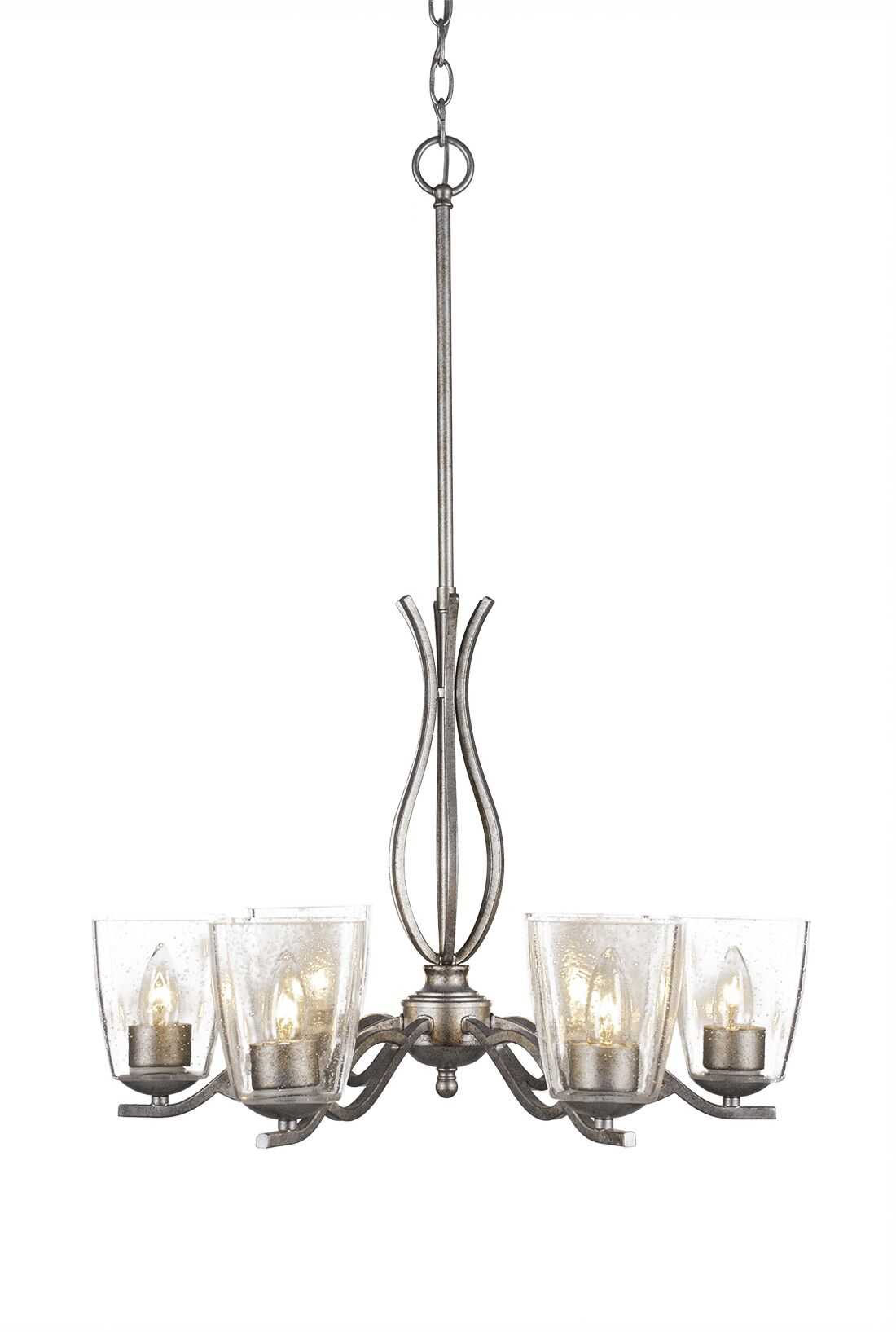 Hiroko 6-Light Candle-Style Chandelier Finish: Aged Silver