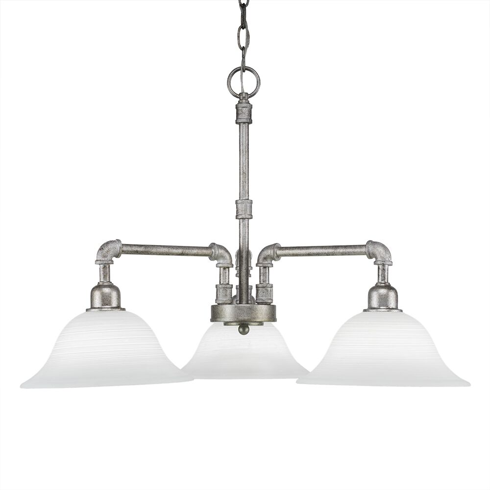 Canyon 3-Light Shaded Chandelier Finish: Aged Silver