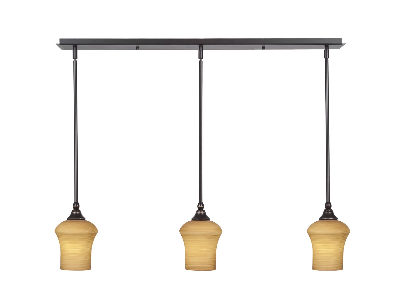Arelious 3-Light Kitchen Island Pendant Shade Color: Cayenne