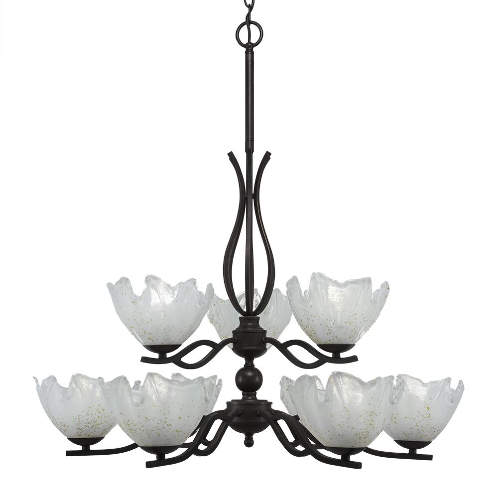 Hiroko 9-Light Shaded Chandelier Shade Color: Gold