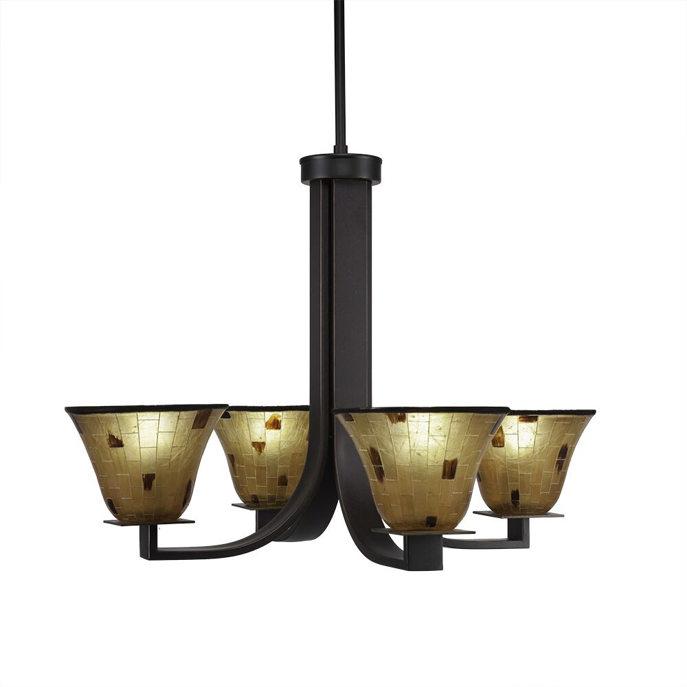 Weatherly 4-Light Shaded Chandelier