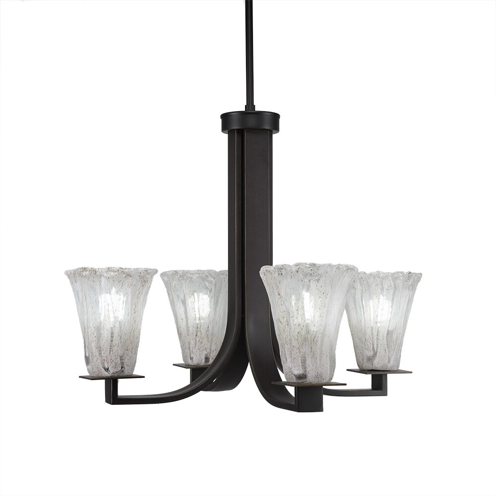 Elburn 4-Light Shaded Chandelier Finish: Dark Granite