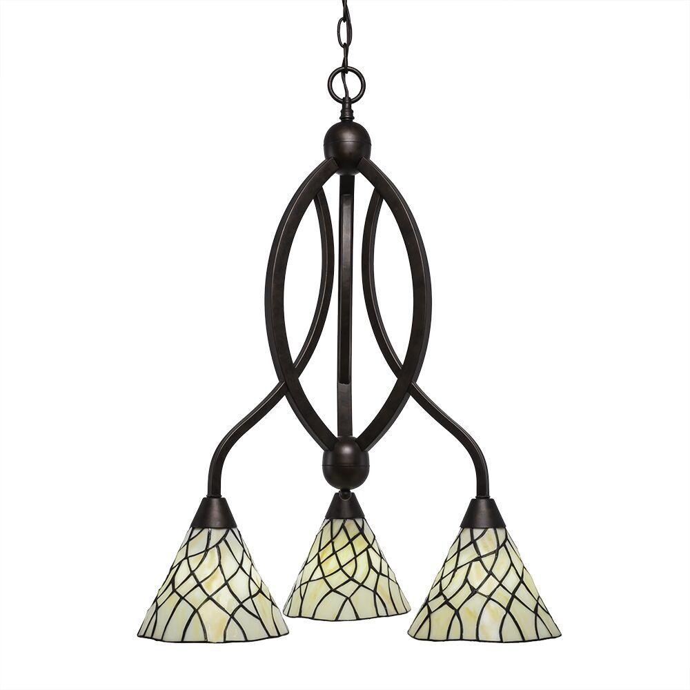 Austinburg 3-Light Shaded Chandelier Color: Bronze