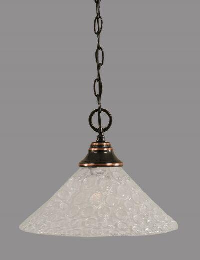 Carpen 1-Light Bowl Pendant Finish: Black Copper, Size: 16