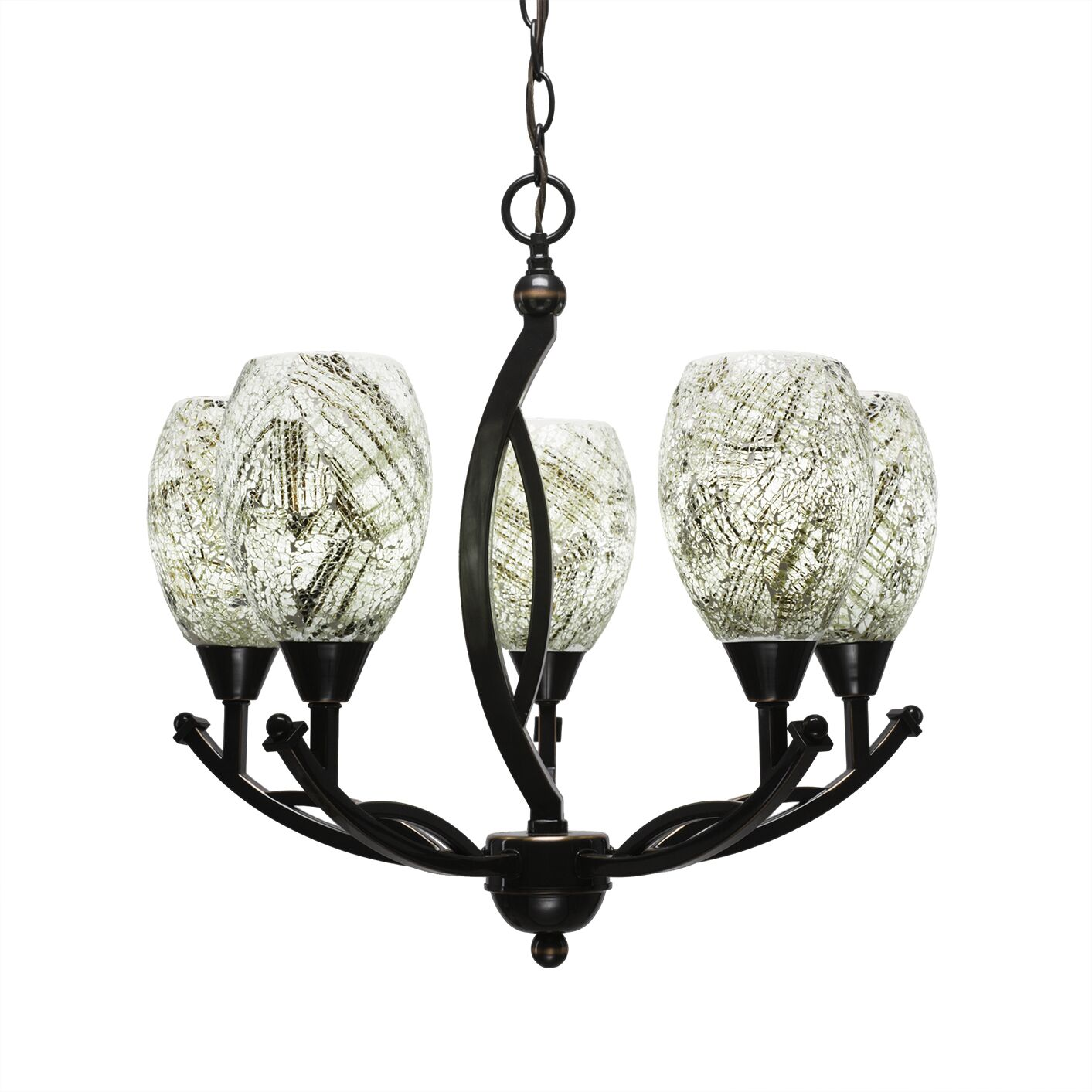 Eisenhauer 5-Light Shaded Chandelier Shade Color: Natural