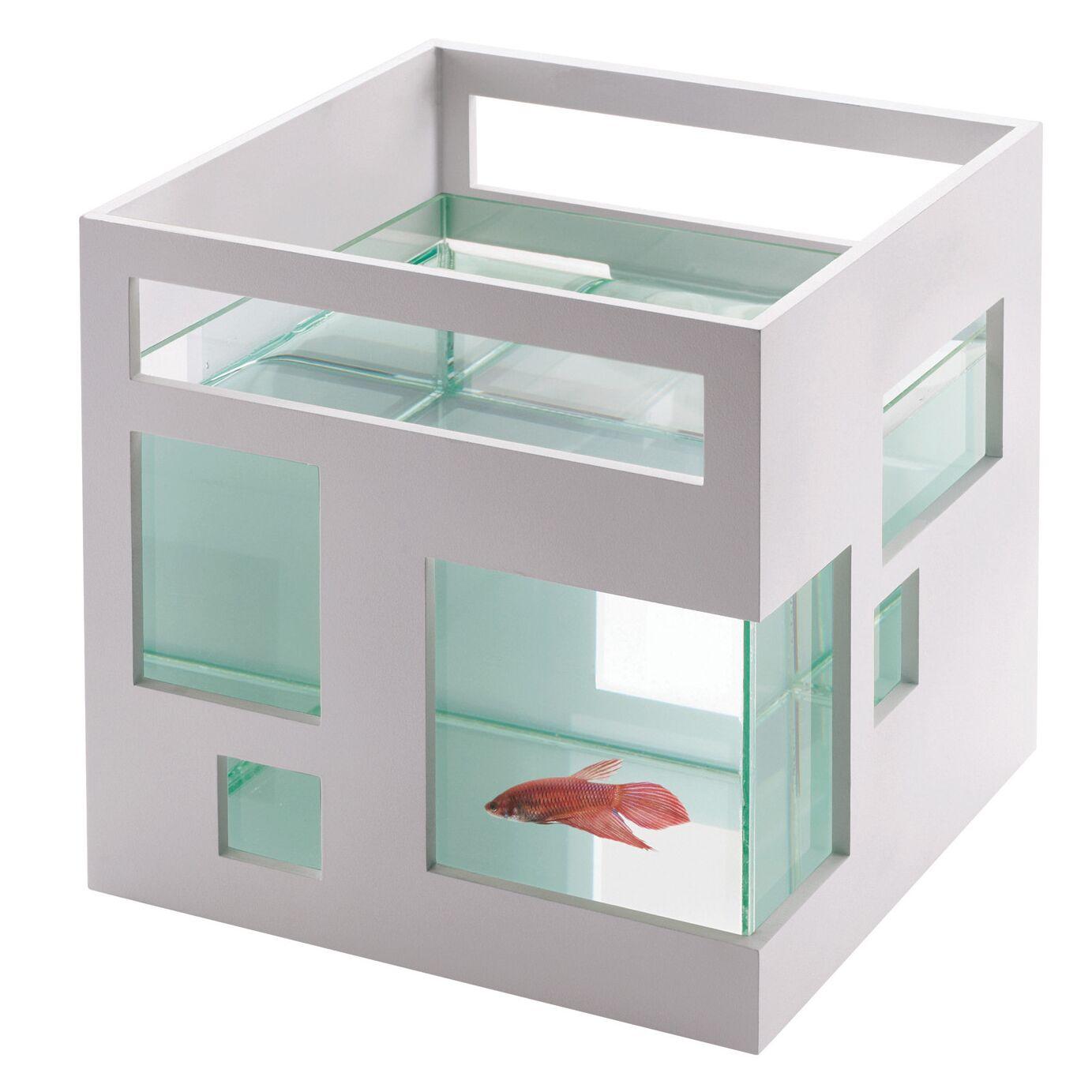 Fishhotel 1.8 Gallon Aquarium Bowl Color: White