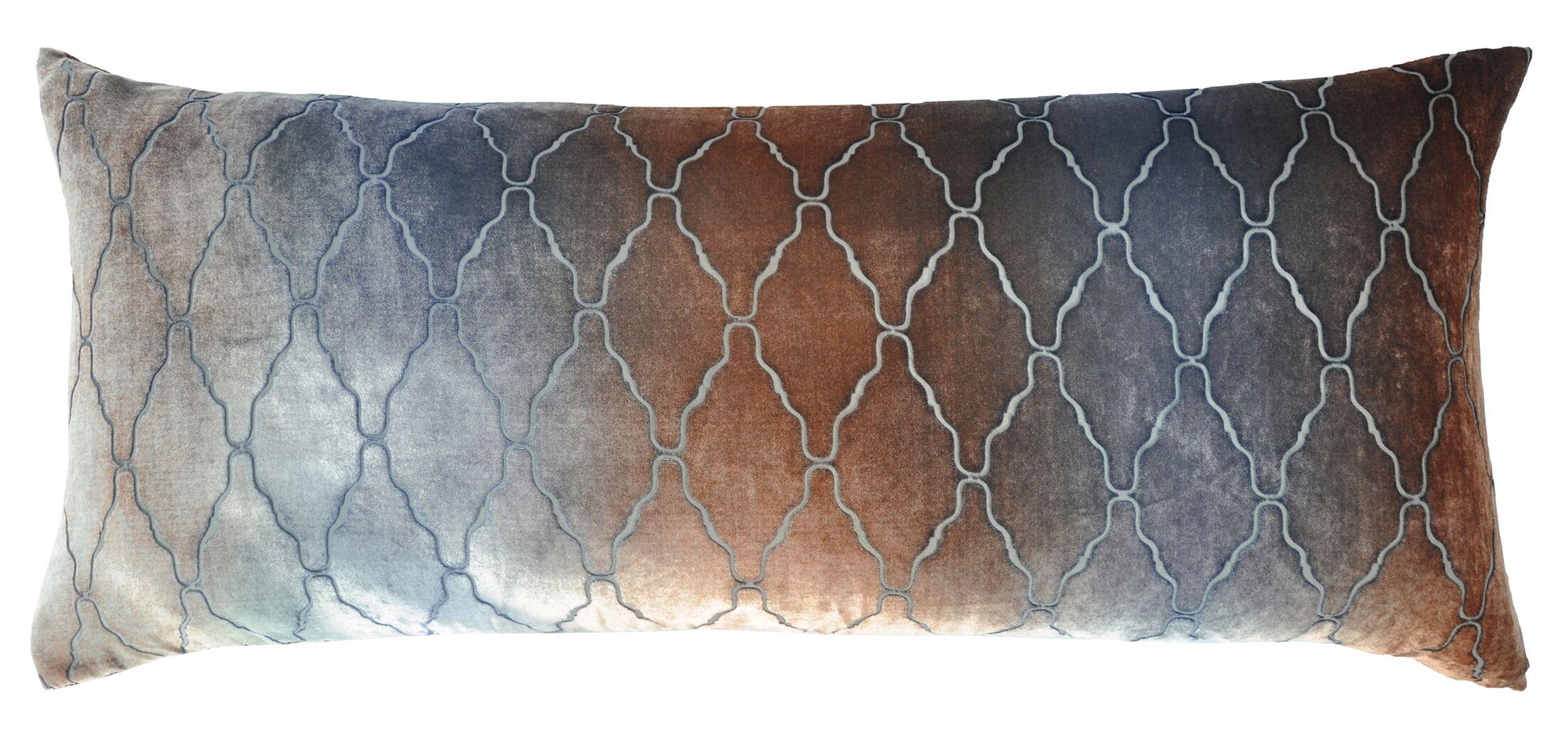 Arches Velvet Large Boudoir Pillow Color: Gunmetal