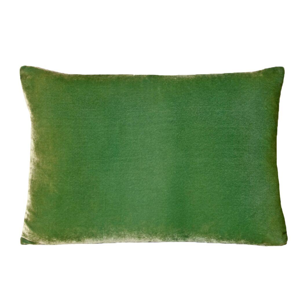 Ombre Velvet Lumbar Pillow Color: Grass