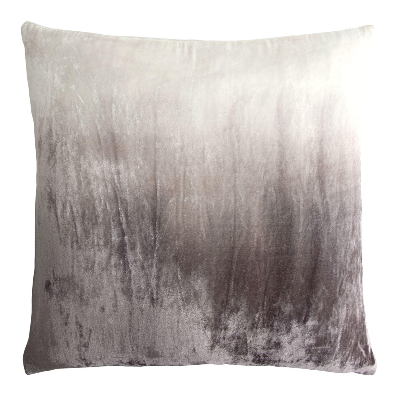 Dip Dye Velvet Pillow Color: Ethereal Gray