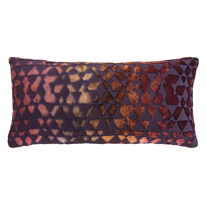 Triangles Mini Velvet Lumbar Pillow