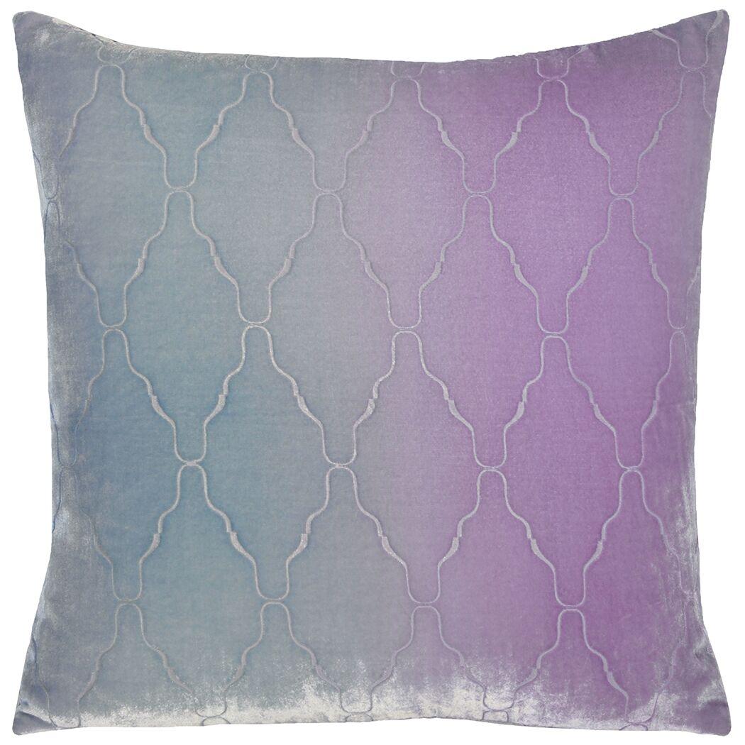 Arches Velvet Pillow Size: 22'' H x 22'' W x 3'' D, Color: Cornflower