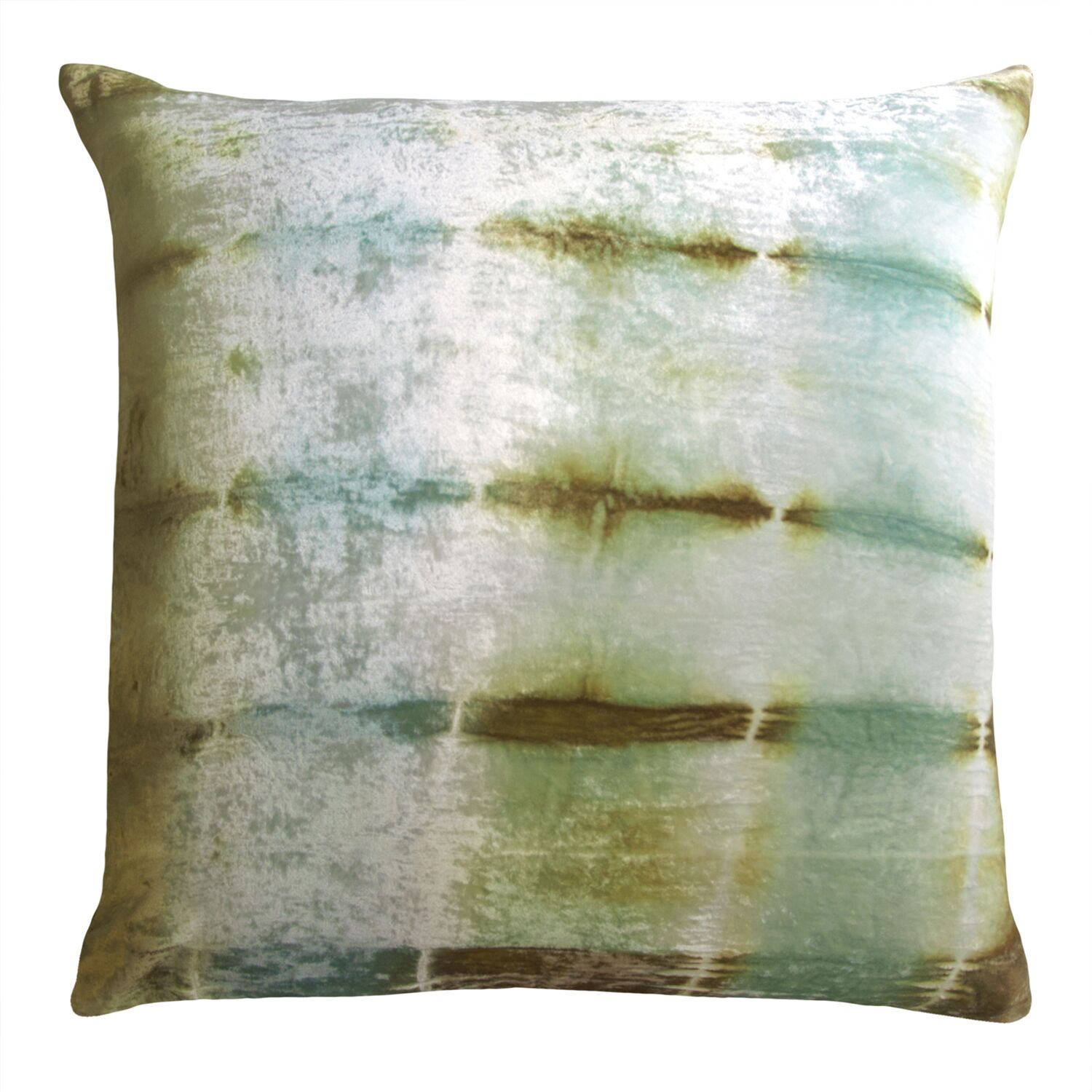 Rorschach Velvet Throw Pillow Color: Ice, Size: 18